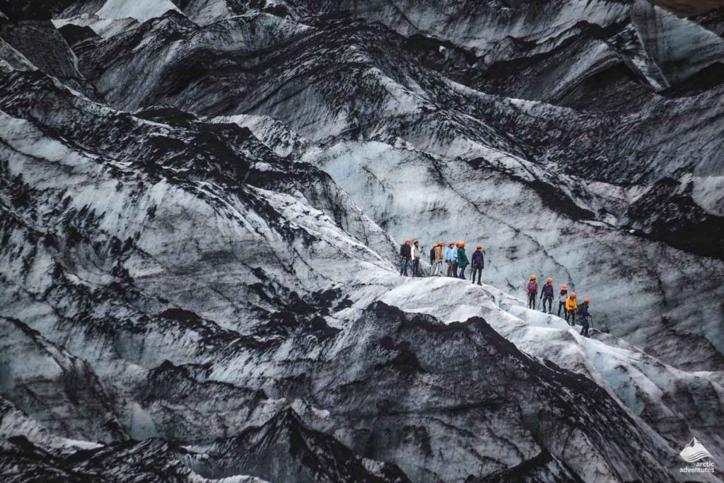 Group of glacier hikers