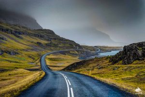 Car road in Iceland