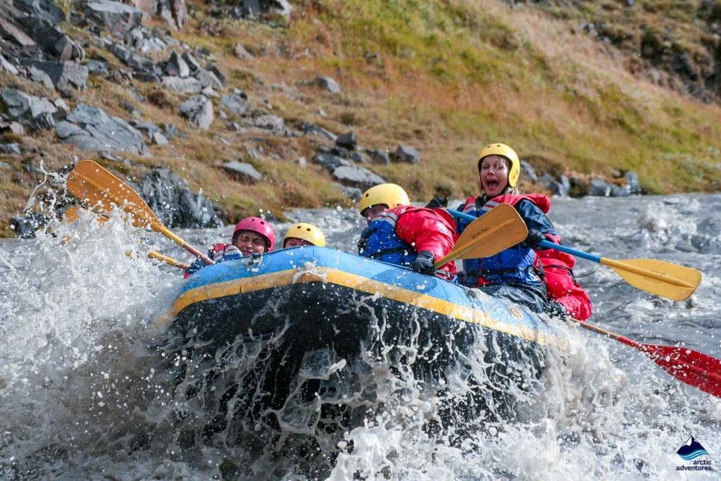 A white water rafting group