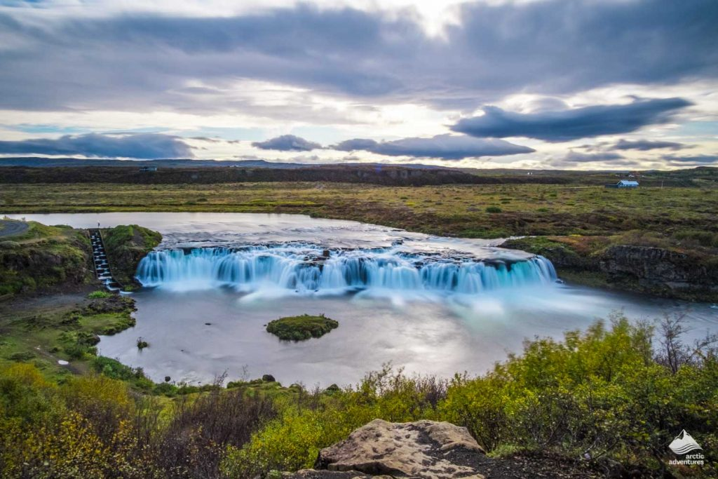 Vatnsleysufoss or Faxi waterfall in Iceland