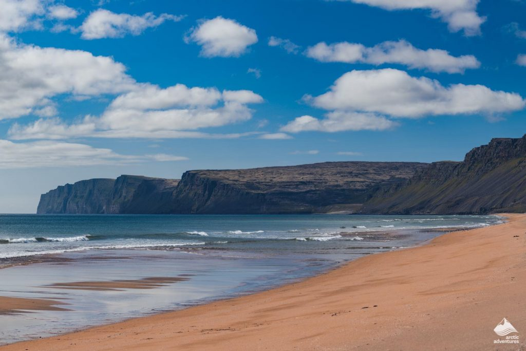 Raudasandur Beach in the Westfjords of Iceland