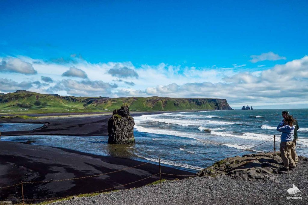 Reynisfjara black sand beach coast