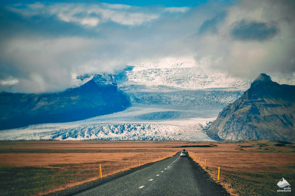 Car on Iceland road